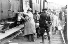 Antwerp, Belgium, Jewish refugees being taken from the ship St. Louis to Brussels via train, 18/06/1939.