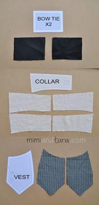 Free dog tuxedo vest pattern to sew an elegant tuxedo suit if you combine with the tuxedo jacket premium pattern.