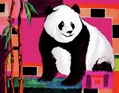 3d wallpaper 3d wallpapers tatoos pinterest wallpaper 3d panda abstrack color vision painting by alban dizdari panda abstrack color vision fine art prints voltagebd Gallery