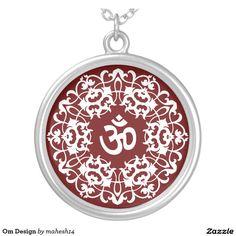 Om Design Round Pendant Necklace