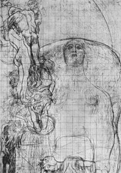 Study for Philosophy - Gustav Klimt 1898