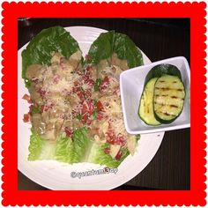 Dinner:Chicken Caesar Lettuce Wraps w/grilled zuchinni#quantuml3ap #lettucewraps#chickencaesar #Lowcarb #eatclean #jerf #widn #instagood #keto #paleo #eating #hungry #foodpics #lchf #lowcarblifestyle #cleancarbs #cleancalories #eatcarbsforwhat #foodjourney #foodblogger #foodie #photogrid @photogridorg#wraps#dinner by quantuml3ap
