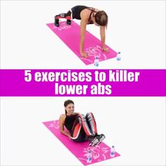 Top 5 Exercises To Killer low abs Flat belly workout routine for women. This effective fitness routine targets your lower abs. No equipment needed great for women and men who workout at home. Fitness Workouts, Lower Ab Workouts, Gym Fitness, Fitness At Home, Lower Ab Workout For Women, Video Fitness, Workout Routines For Women, At Home Workout Plan, At Home Workouts