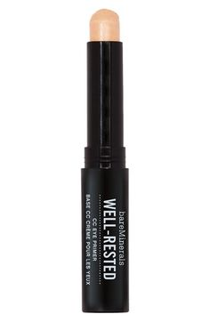 Free shipping and returns on bareMinerals® 'Well-Rested®' CC Eye Primer at Nordstrom.com. bareMinerals Well-Rested CC Eye Primer is a color-correcting primer that instantly cools and recharges skin with a revitalizing mineral blend along with aloe and caffeine plus a hint of tint. It diminishes the look of dark circles and imperfections as well. Wear alone or under makeup to extend the wear of eye color and concealer.