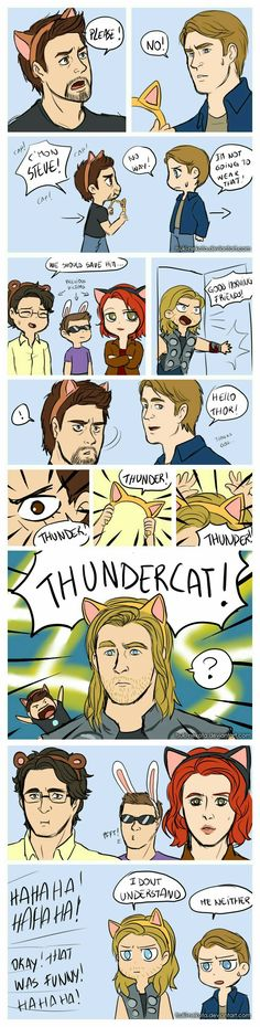 Tunder cat!!!! Meow... Lol