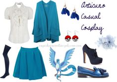 Pokemon's Articuno-inspired casual cosplay set