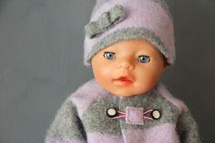 Puppenjacke selber nähen - doll's jacket DIY tutorial