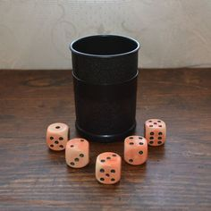 Vintage dice with cup Yahtzee by MaAndPasAttic on Etsy