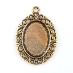 20x 143239 New Golden Plated Oval Frame Blank Charms Alloy Pendants Findings
