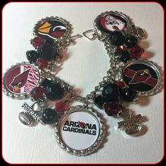 Arizona Cardinals charm bracelet unique custom made Sports & Themed Jewelry nfl,ncaa,nba,nhl,mlb NFL Charm Bracelet by SportsnBabyCouture on Etsy