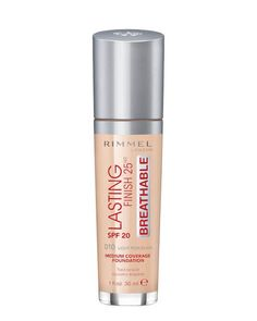 Rimmel Lasting Finish 25hr Breathable Foundation- ellemag Rimmel Foundation, Oil Free Foundation, Best Full Coverage Foundation, Korean Natural Makeup, Natural Beauty, Celebrity Makeup Looks, Natural Lip Balm, Face Facial, How To Apply Makeup