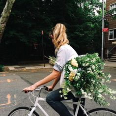 Can we please bike around delivering flowers to people