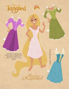 Rapunzel Party Activities: Paper Dolls! « Recession Home