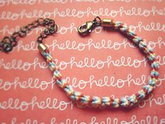 Our grown up friendship bracelet tutorial :) http://peabodyandthrift.blogspot.co.uk/2015/03/twisted-thread-bracelet.html