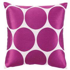 Erin Embroidered Linen Throw Pillow