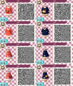• Christmas red girls dress sweater scarf Clothes purse neutral jacket QR code ac3ds animal crossing new leaf new leaf acnl acjo glong bluegreen pinkpurple cardi gshort merongcrossing •: