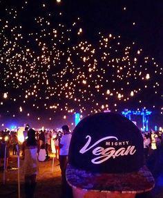 & 'RISE LANTERN FESTIVAL 2015!' MOJAVE DESERT, NEVADA. USA #govegan #teamMightyVegan www.mightyveganapparel.com Be HEALTHY! Be MIGHTY! Go VEGAN!