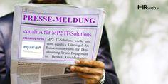 Pressemeldung | Auszeichnung equalitA an MP2 IT-Solutions verliehen