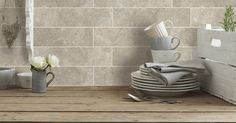 Hudson Cream Wall Tile - gorgeous colour and pattern Brick Style Tiles, Brick Tiles, Wall Tiles, Cream Walls, Bathroom, Pattern, Colour, Bath Room, Color