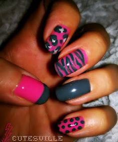 nail art. For graduation I would only do the cheetah print, zebra print, pocka dots, or the french tip on all of my nails except for the ring finger. I would keep it the same like it is in the picture.