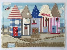 Beach+Hut+Nautical+Laura+Ashley+Fabric+Art+Picture+Boat+Lighthouse+Summer