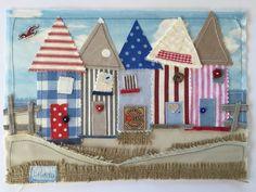 Beach+Hut+Nautical+Laura+Ashley+Fabric+Art+Picture+Boat+Lighthouse+Summer