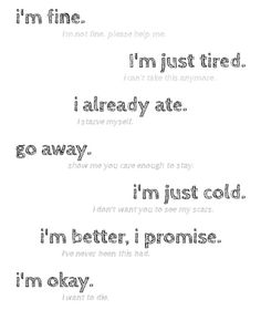 Quotes About Self Harm | anorexia, depression, lies, self-harm - inspiring picture on Favim.com