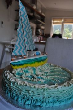 Boat Cake made for my sisters going away party