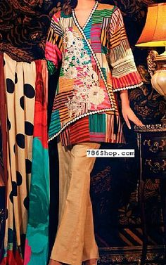 Beige Khaddar Suit | Buy Charizma Pakistani Dresses and Clothing online in USA, UK