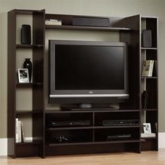 Home Entertainment Center Wood Storage Cabinet TV Stand Console Media Furniture in Home & Garden, Furniture, Entertainment Units, TV Stands Tv Stand And Entertainment Center, Entertainment Wall, Entertainment Furniture, Media Furniture, Cabinet Furniture, Furniture Storage, Gaming Furniture, Furniture Ads, Wooden Furniture