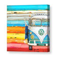 ART PRINT Vw volkswagen van bus retro vintage beach coastal wall decor poster painting summer gift nostalgia wedding, All Sizes Vw Beach, Beach Art, Art Pop, Arte Pallet, Deco Surf, Art Plage, Art Du Collage, Retro Vintage, Ouvrages D'art