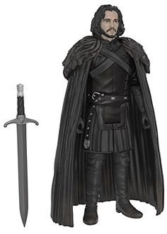 Jon Snow from Game of Thrones action figure by Funko! Funko's latest figures stand at 3.75' and have five points of articulation! The first wave features Jon Snow Samwell Tarly Ghost Ygritte Tormu...