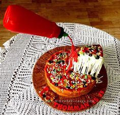 Ultimate Anti Gravity Cheese Pizza Cake... Coolest Birthday Cake Ideas