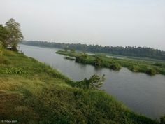 A beautiful view of river Purna (now called Periyar) at Kalady in Kerala, right in front of the place where Sri Adi Shankaracharya was born.