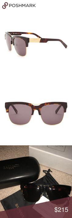 Balmain Sunglasses 100% Authentic Balmain Sunglasses.  Two tone oversized. Bought at Neiman Marcus. Come with original box, sunglass case, sunglass protective pouch, and certificate of authenticity. Balmain Accessories Sunglasses