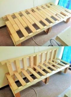 Sofa with recycled pallets; Build your projects … – The post Sofa with recycled pallets; Build your projects … – … appeared first on Wood Decoration Palette. Wooden Pallet Furniture, Pallet Sofa, Wooden Pallets, Diy Furniture, Pallet Benches, Outdoor Pallet, Weathered Furniture, Pallet Tables, Pallet Bar