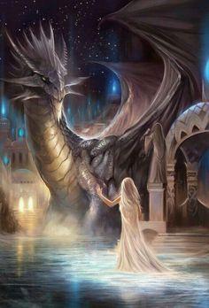 Fantasy Magical Creatures Dragons And Unicorns Art Dark Fantasy Art, Fantasy Artwork, Fantasy World, Fantasy Love, Beautiful Fantasy Art, Cool Dragons, Dragon's Lair, Dragon Artwork, Dragon Drawings