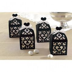 50 Black Lantern Heart Wedding Favour Boxes  �10.99  Check out our brand new facebook shop