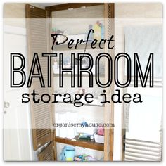 Bathroom storage idea - creating shelves that really work for all the family needs