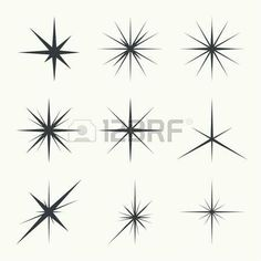 Vector Vector set of sparkle lights stars. Stars with rays, explosion, fireworks.Vector set of sparkle lights stars. Stars with rays, explosion, fireworks. Star Tattoo Designs, Skull Tattoo Design, Dragon Tattoo Designs, Star Designs, Mini Tattoos, Small Tattoos, Southern Cross Tattoos, Firework Tattoo, J Tattoo