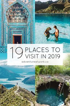 As 2019 has just started, it's time to set new travel goals for the new year! Here are my top 19 places that you NEED to visit in 2019 for your travel bucket list! Bucket List Travel, Bucket List Destinations, New Travel, Travel Goals, Travel Info, Travel Tips, Work Travel, Time Travel, Future Travel