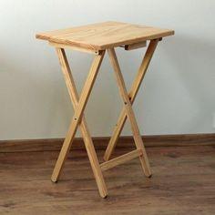 Skladací stolík drevený, prírodný SD123