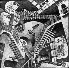Escher. Relatividad