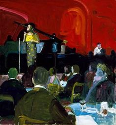 Wonner, Paul John - Sarah Vaughan Singing, Riviera Hotel, Las Vegas  Oil on canvas  1963