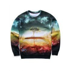 9d52bd50c8f9 Round Neck Long Sleeve Sweatshirt  Fashion  Mens  Men  Colormix