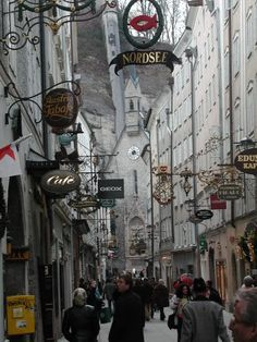 Salzburg, Austria-Sound of Music tour is fun filled.  Love the shopping and it is just a beautiful city.  Love the old original signs.