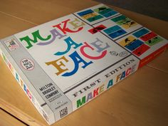 First Edition 1962 Vintage game - Make a Face - Milton Bradley by RetrowareExchange on Etsy