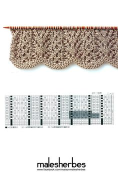 beautiful knitting stitch: