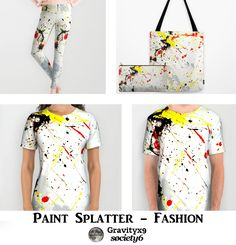 His & Her Paint #Splatter Fashion & Accessories adds an artsy, abstract look to your wardrobe. #Society6 #Gravityx9 -