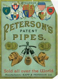 Cover from Peterson's 1890's patent catalogue.